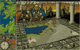 In game image of Powermonger on the Atari ST.