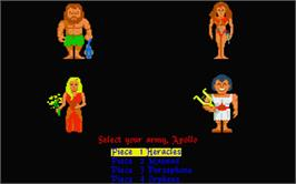 In game image of Powerplay: The Game of the Gods on the Atari ST.