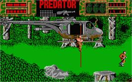 In game image of Predator on the Atari ST.