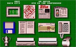 In game image of Premier Manager on the Atari ST.