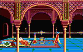 In game image of Prince of Persia on the Atari ST.