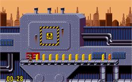 In game image of Pushover on the Atari ST.