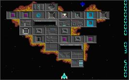 In game image of Quasar on the Atari ST.
