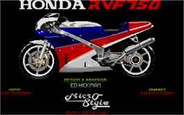 In game image of RVF Honda on the Atari ST.