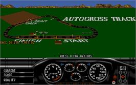 In game image of Race Drivin' on the Atari ST.