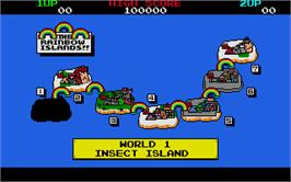 In game image of Rainbow Islands on the Atari ST.