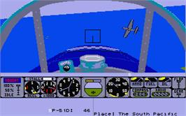 In game image of Rainbow Warrior on the Atari ST.
