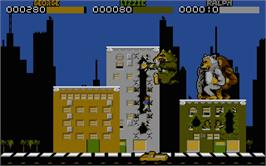 In game image of Rampage on the Atari ST.