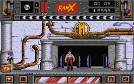 In game image of Ranx on the Atari ST.