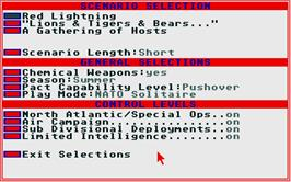 In game image of Red Lightning on the Atari ST.