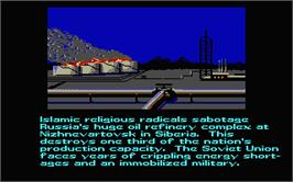 In game image of Red Storm Rising on the Atari ST.