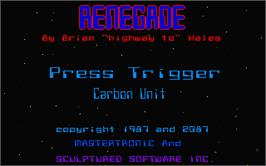 In game image of Renegade on the Atari ST.