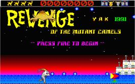In game image of Revenge of the Mutant Camels on the Atari ST.