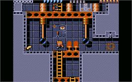 In game image of Rick Dangerous 2 on the Atari ST.