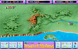 In game image of Rings of Medusa on the Atari ST.
