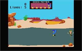 In game image of Road Runner on the Atari ST.