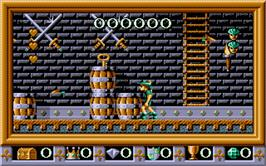 In game image of Robin Hood: Legend Quest on the Atari ST.