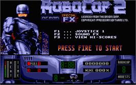 In game image of Robocop 2 on the Atari ST.