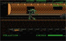 In game image of Robozone on the Atari ST.