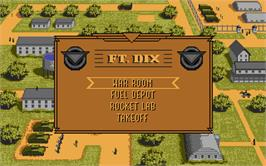 In game image of Rocket Ranger on the Atari ST.