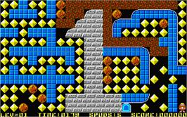 In game image of Rockfall Special Edition on the Atari ST.