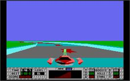 In game image of S.T.U.N. Runner on the Atari ST.