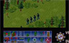 In game image of Sabre Team on the Atari ST.