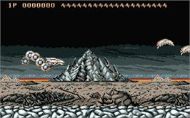 In game image of Saint Dragon on the Atari ST.