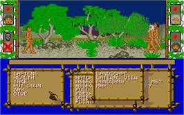 In game image of Sapiens on the Atari ST.