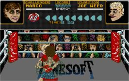 In game image of Seconds Out on the Atari ST.