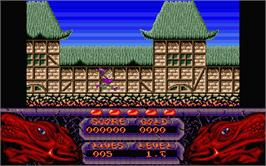 In game image of Seven Gates of Jambala on the Atari ST.