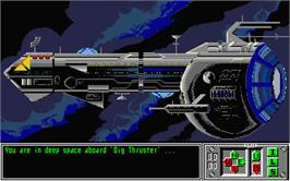 In game image of Sex Vixens from Space on the Atari ST.