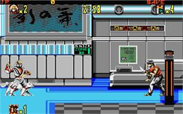 In game image of Shadow Dancer on the Atari ST.