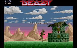 In game image of Shadow of the Beast on the Atari ST.