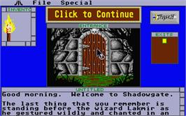 In game image of Shadowgate on the Atari ST.