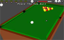 In game image of Sharkey's 3D Pool on the Atari ST.