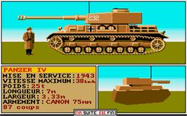 In game image of Sherman M4 on the Atari ST.