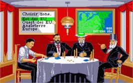 In game image of Sid Meier's Railroad Tycoon on the Atari ST.