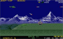 In game image of Silk Worm on the Atari ST.