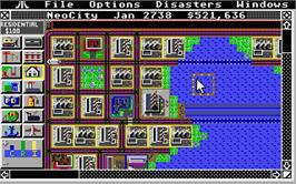 In game image of Sim City: Terrain Editor on the Atari ST.