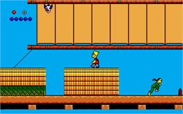 In game image of Simpsons: Bart vs. the World on the Atari ST.