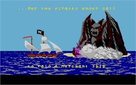 In game image of Skull & Crossbones on the Atari ST.