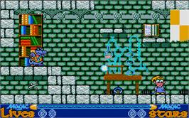 In game image of Slightly Magic on the Atari ST.