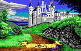 In game image of Spirit of Excalibur on the Atari ST.