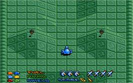 In game image of Star Goose on the Atari ST.