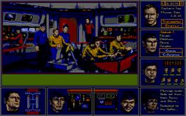 In game image of Star Trek The Rebel Universe on the Atari ST.