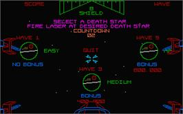 In game image of Star Wars: Return of the Jedi on the Atari ST.