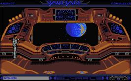 In game image of Starblade on the Atari ST.