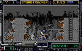 In game image of Stormbringer on the Atari ST.