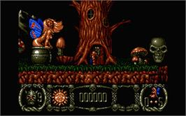 In game image of Stormlord on the Atari ST.